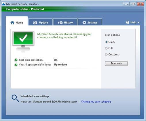 computerstatusprotected web Δωρεάν από τη Microsoft στα ελληνικά το antivirus Security Essentials
