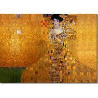 Adele No II by Klimt_αντίγραφο επιζωγραφισμένο 65X90 εκ.