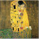 Ζωγραφική αντίγραφο Το φιλί του Κλίμτ τετράγωνο 80Χ80 εκ.